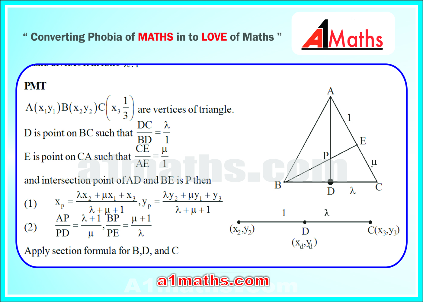 Coordinate geometry iit jee mainsadvanced free study material section formula its converse and applications ccuart Images