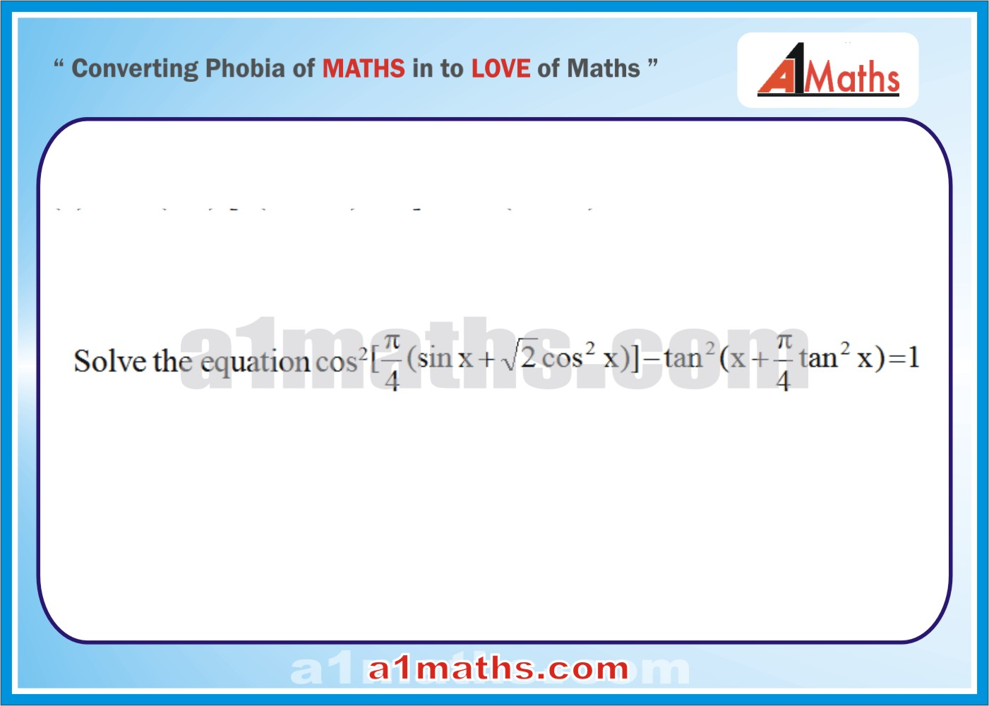 Solved Examples Trigonometric Equations Inequalities Trigonometry