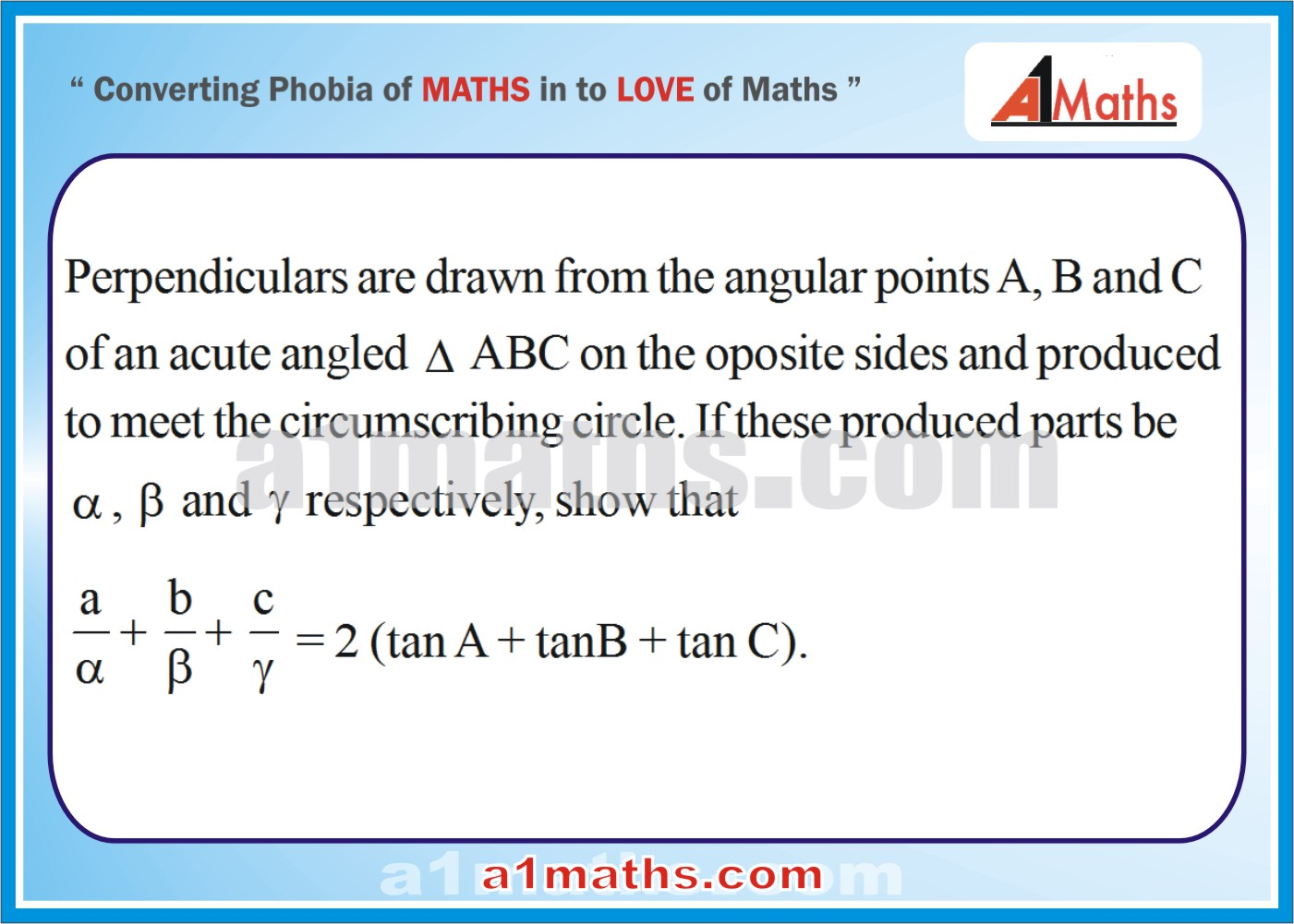 Problem-Solved Questions-8-1--Solution of Triangle-Trigonometry- IIT-JEE Maths-Mains-Advanced-Free Study Material-