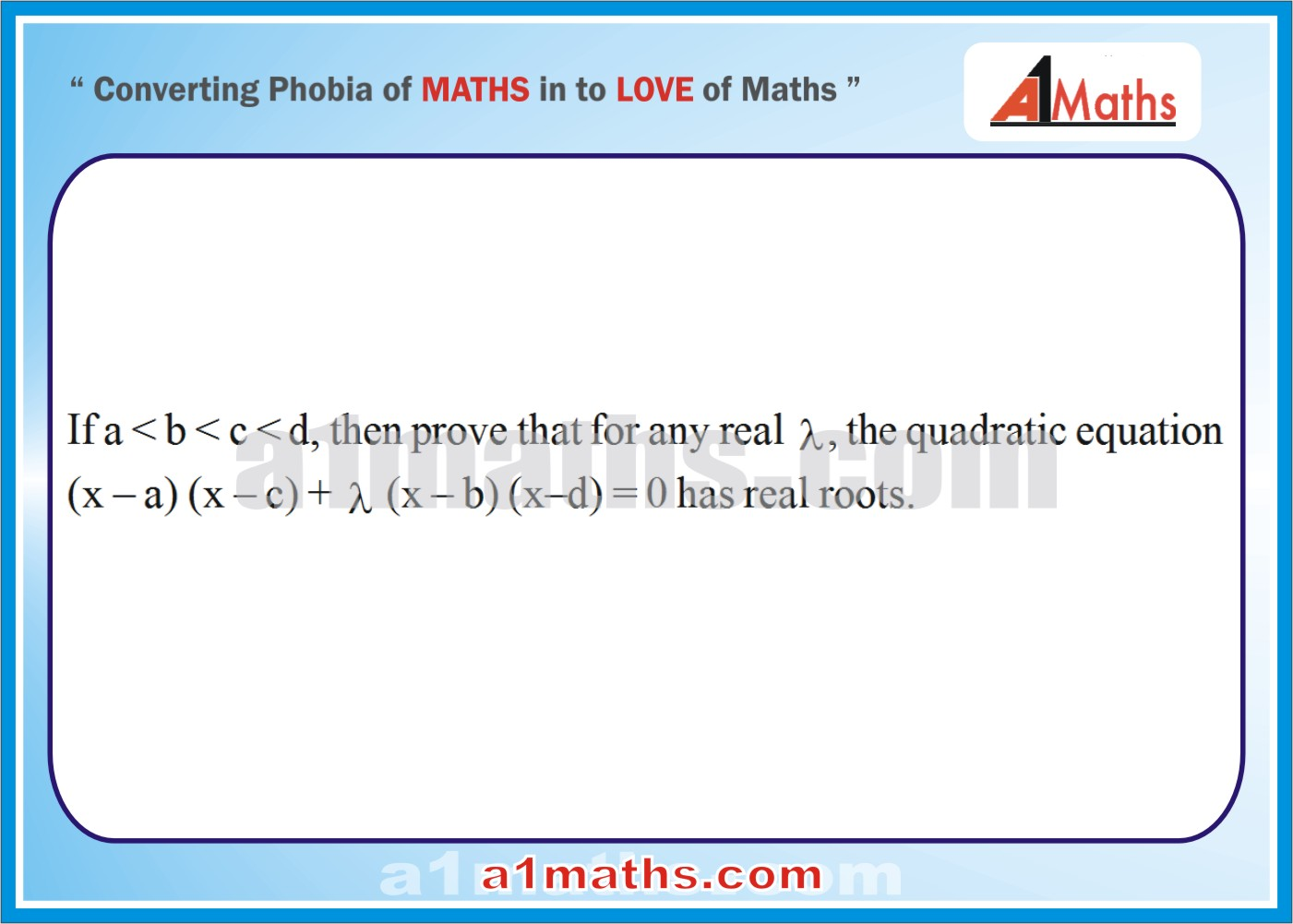 Problems -Solved Examples-2-1-Algebra-1-Quadratic Equation-IIT-JEE Maths-Mains-Advanced-Free Study Material-