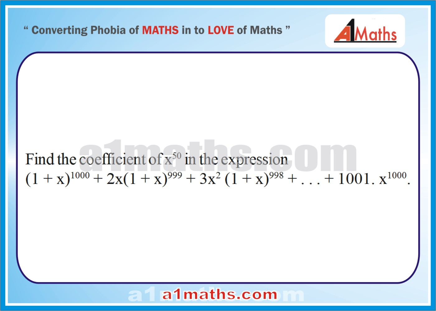 Problems -Solved Examples-2-1-Algebra-2-Binomial Theorem-IIT-JEE Maths-Mains-Advanced-Free Study Material-