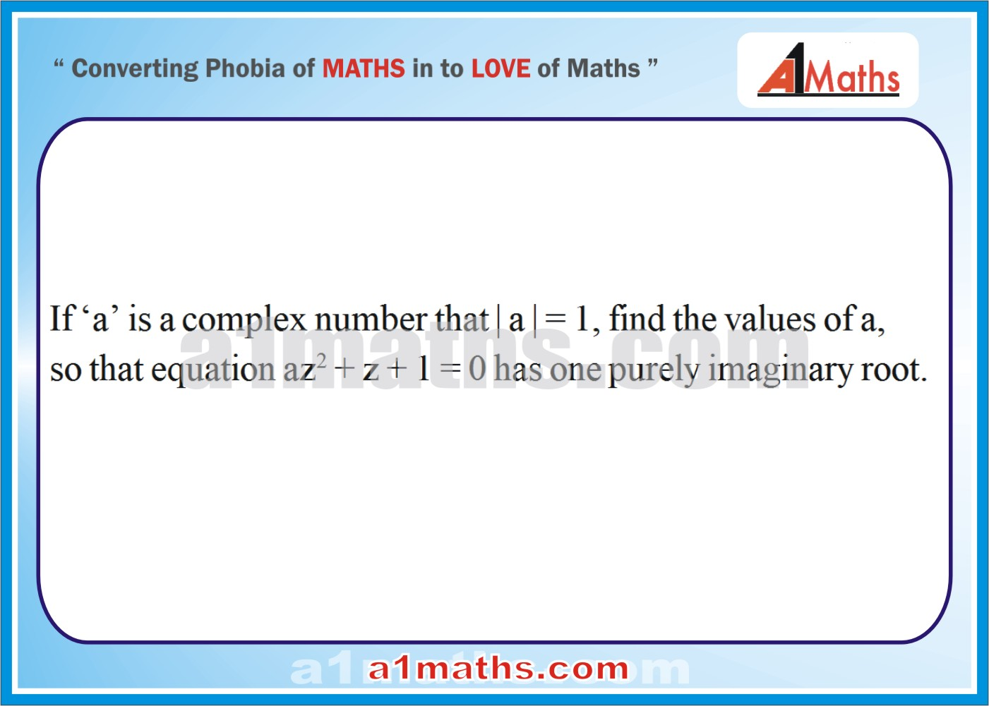 Problems -Solved Examples-2-1-Algebra-Complex Number-IIT-JEE Maths-Mains-Advanced-Free Study Material-