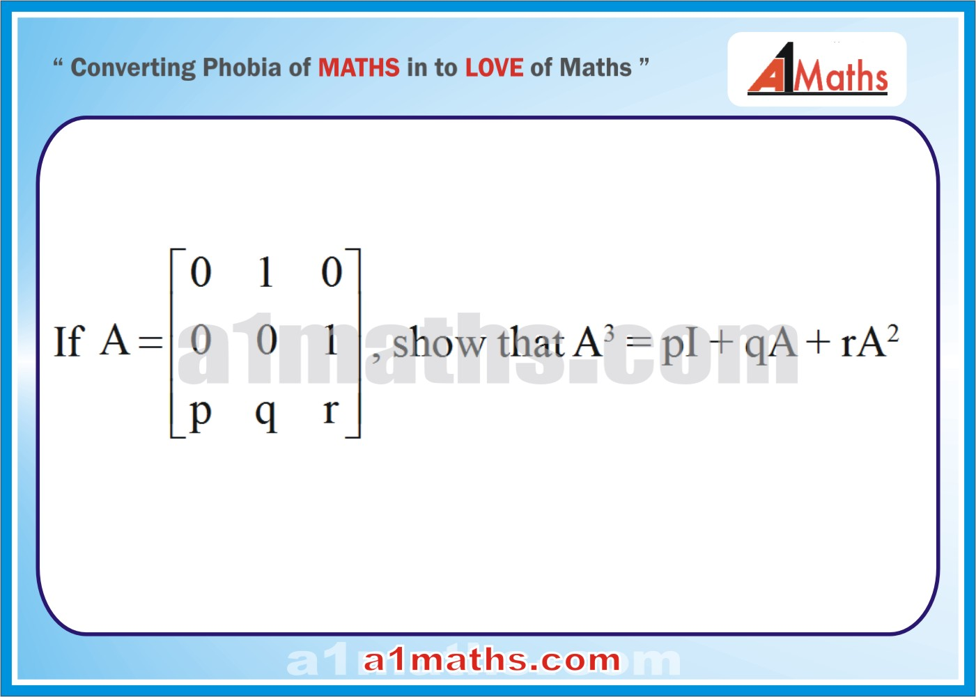 Problems -Solved Examples-2-1-Algebra-Matrice &Determinants-IIT-JEE Maths-Mains-Advanced-Free Study Material-