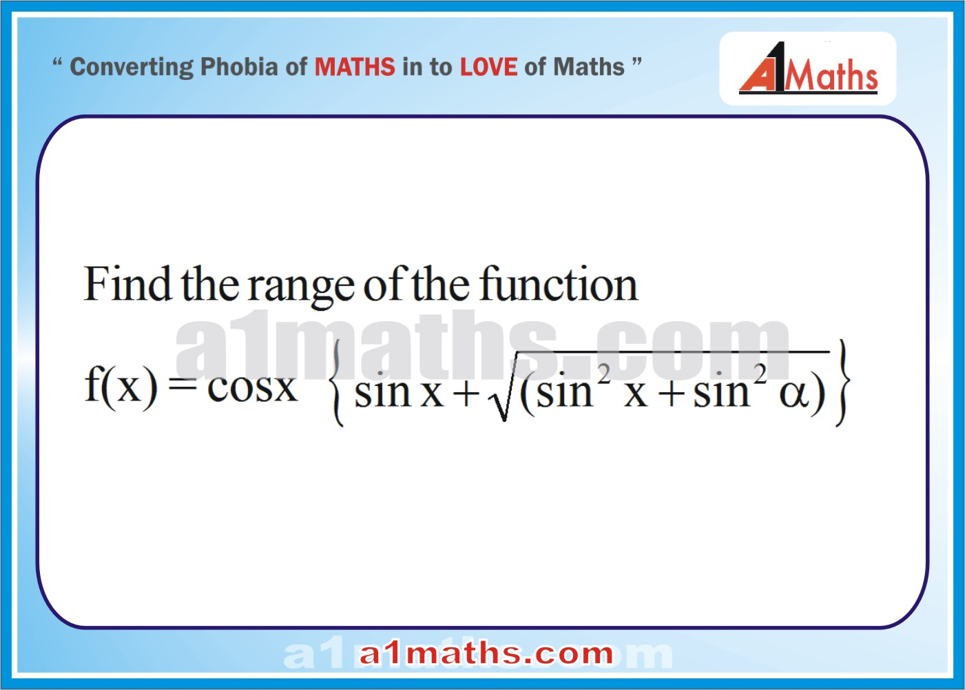 Problems Solved Examples21 Differential Calculusfunctioniit Solved Examples  Functiondifferential Calculusiit Jee Maths How To Find Range Calculus