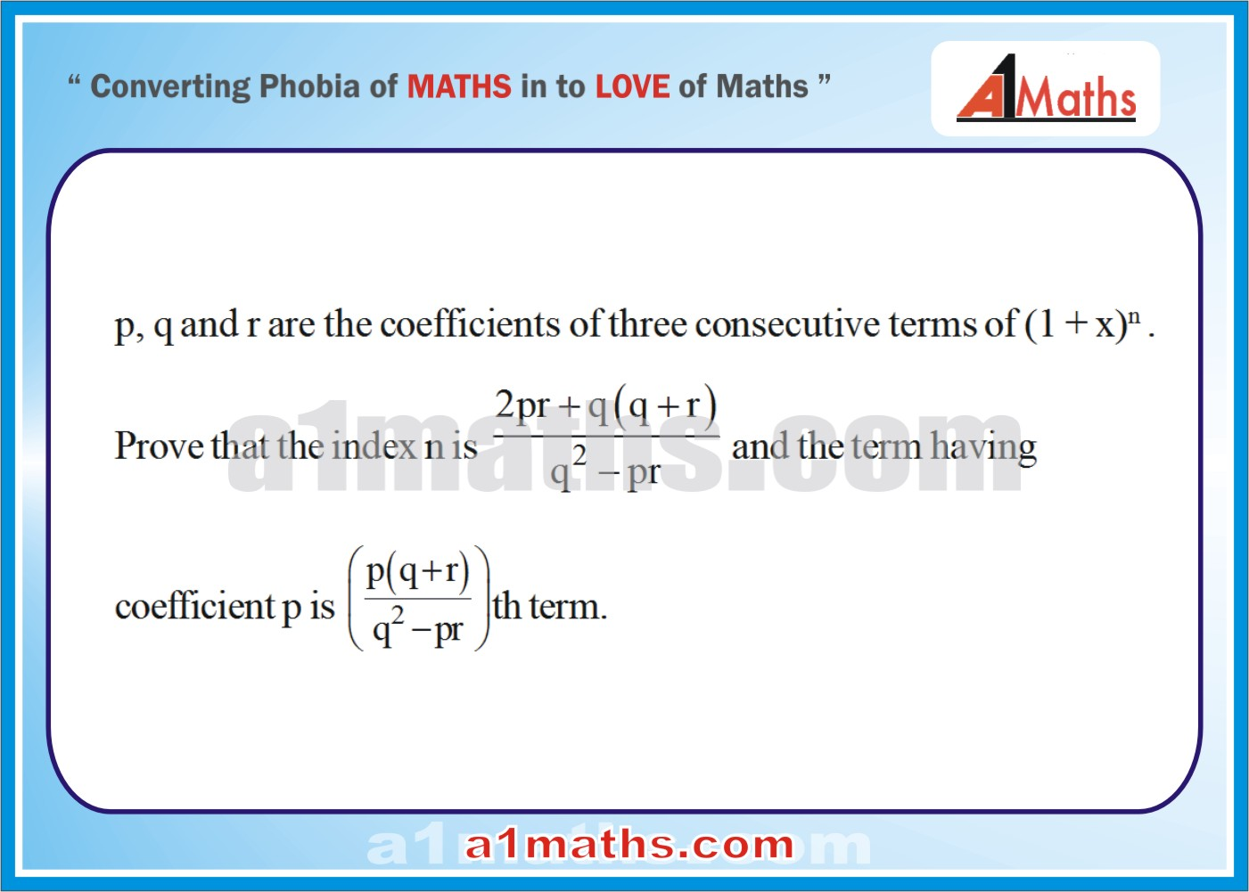 Problems -Solved Examples-3-1-Algebra-2-Binomial Theorem-IIT-JEE Maths-Mains-Advanced-Free Study Material-