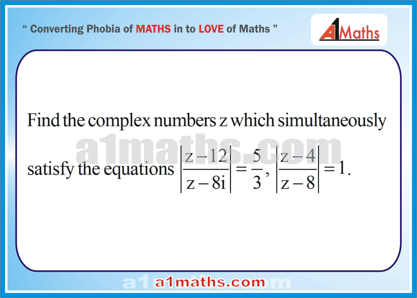 Problems -Solved Examples-4-1-Algebra-Complex Number-IIT-JEE Maths-Mains-Advanced-Free Study Material-