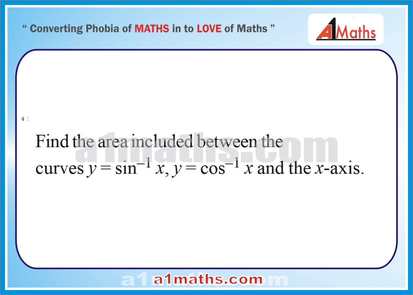 Problems Solved Examples41area Integral Calculusiit Solved Examplesarea  Under Curve Integral Calculusiit Jee Maths