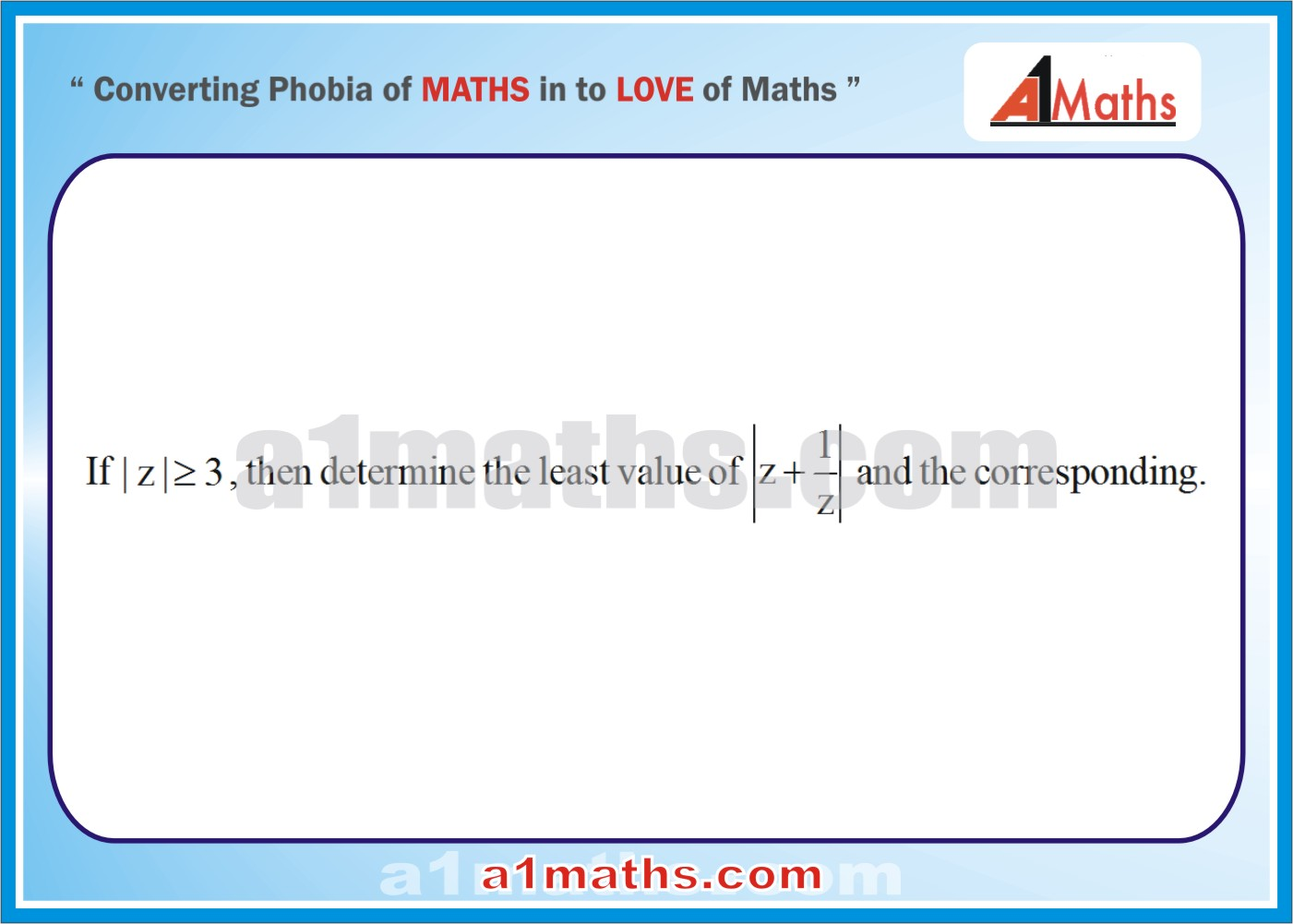 Problems -Solved Examples-5-1-Algebra-Complex Number-IIT-JEE Maths-Mains-Advanced-Free Study Material-