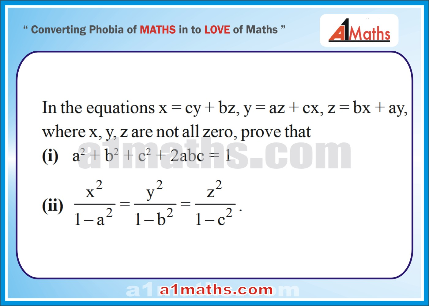 Problems -Solved Examples-5-1-Algebra-Matrice &Determinants-IIT-JEE Maths-Mains-Advanced-Free Study Material-