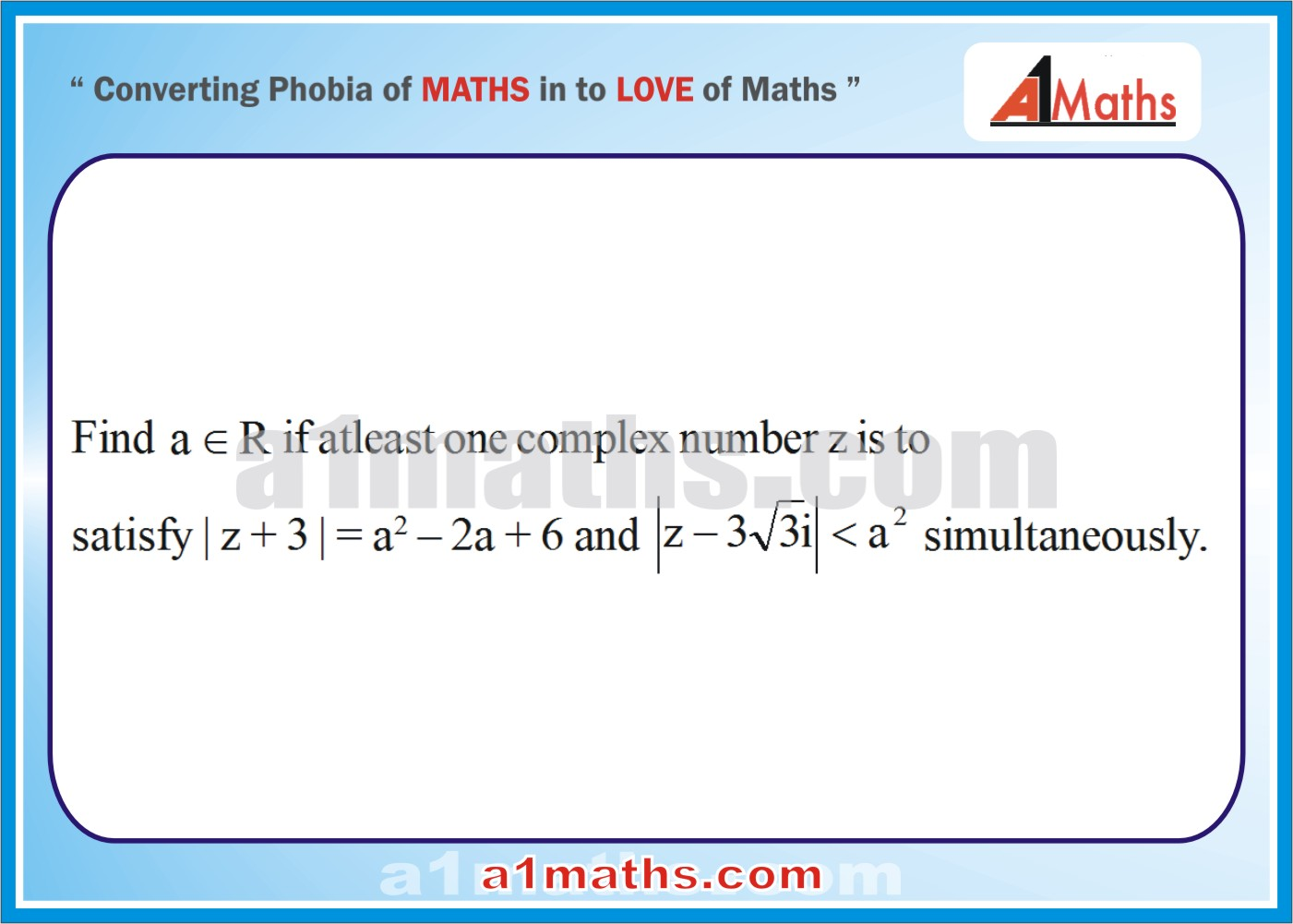 Problems with Solutions-Complex-Numbers -Algebra 1-IIT JEE MATHS ...