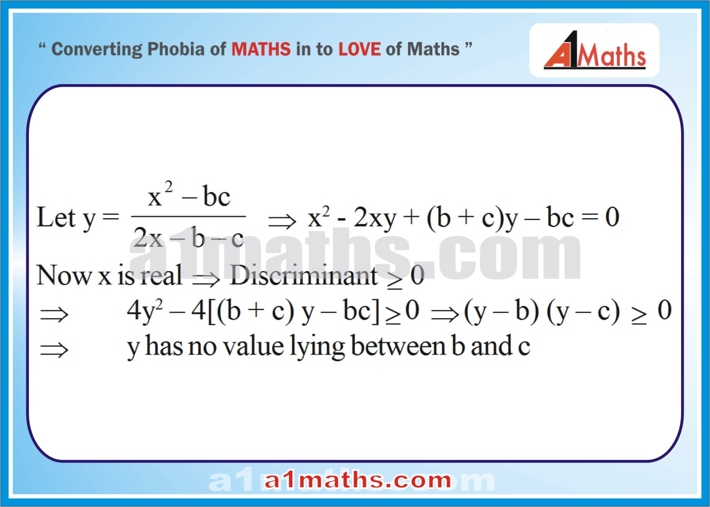 Solved Examples-1-1- Algebra-1-Quadratic Equation-IIT-JEE Maths-Mains-Advanced-Free Study Material-