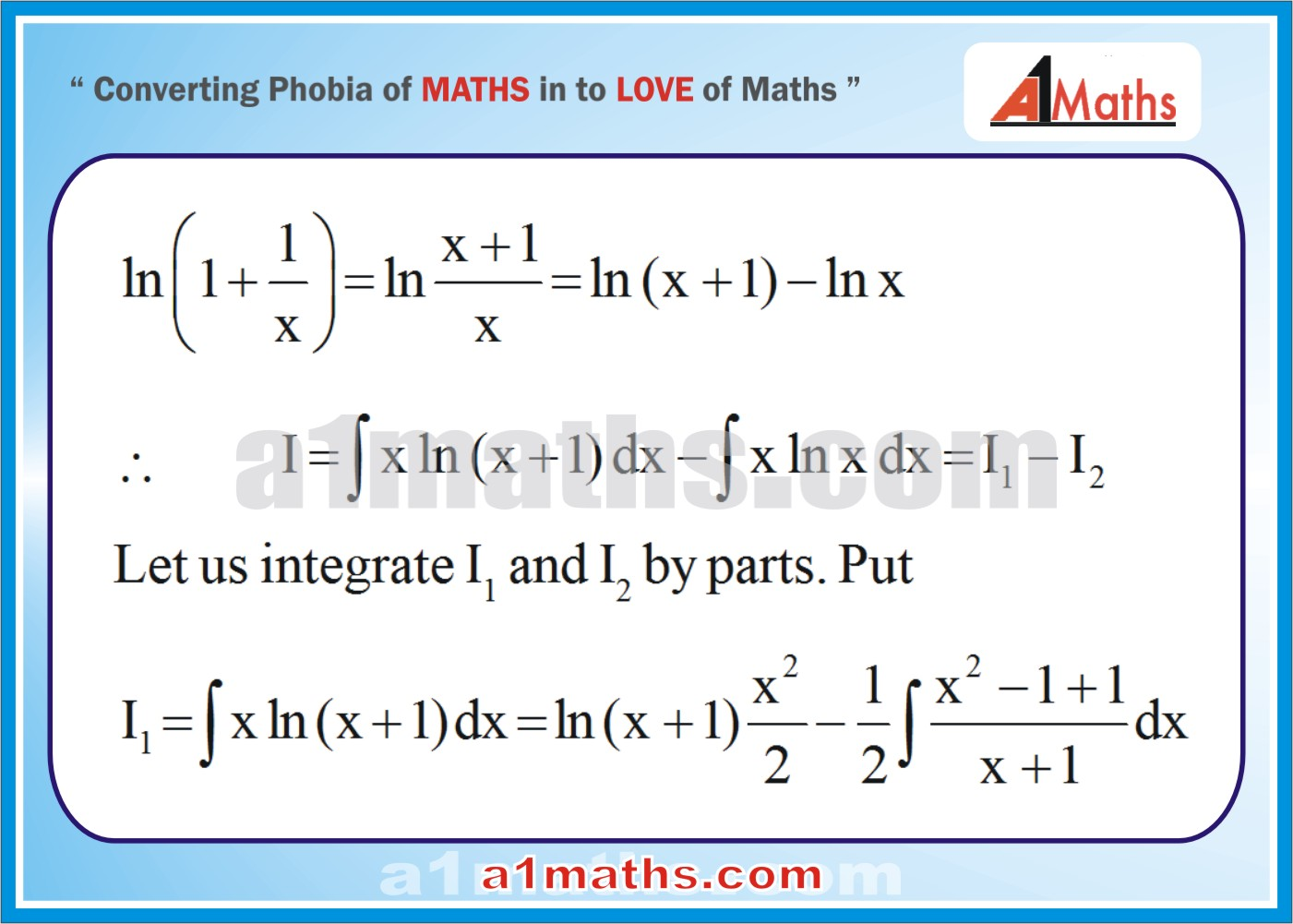 Solved Examples Indefinite Integration Integral Calculus Iit Jee