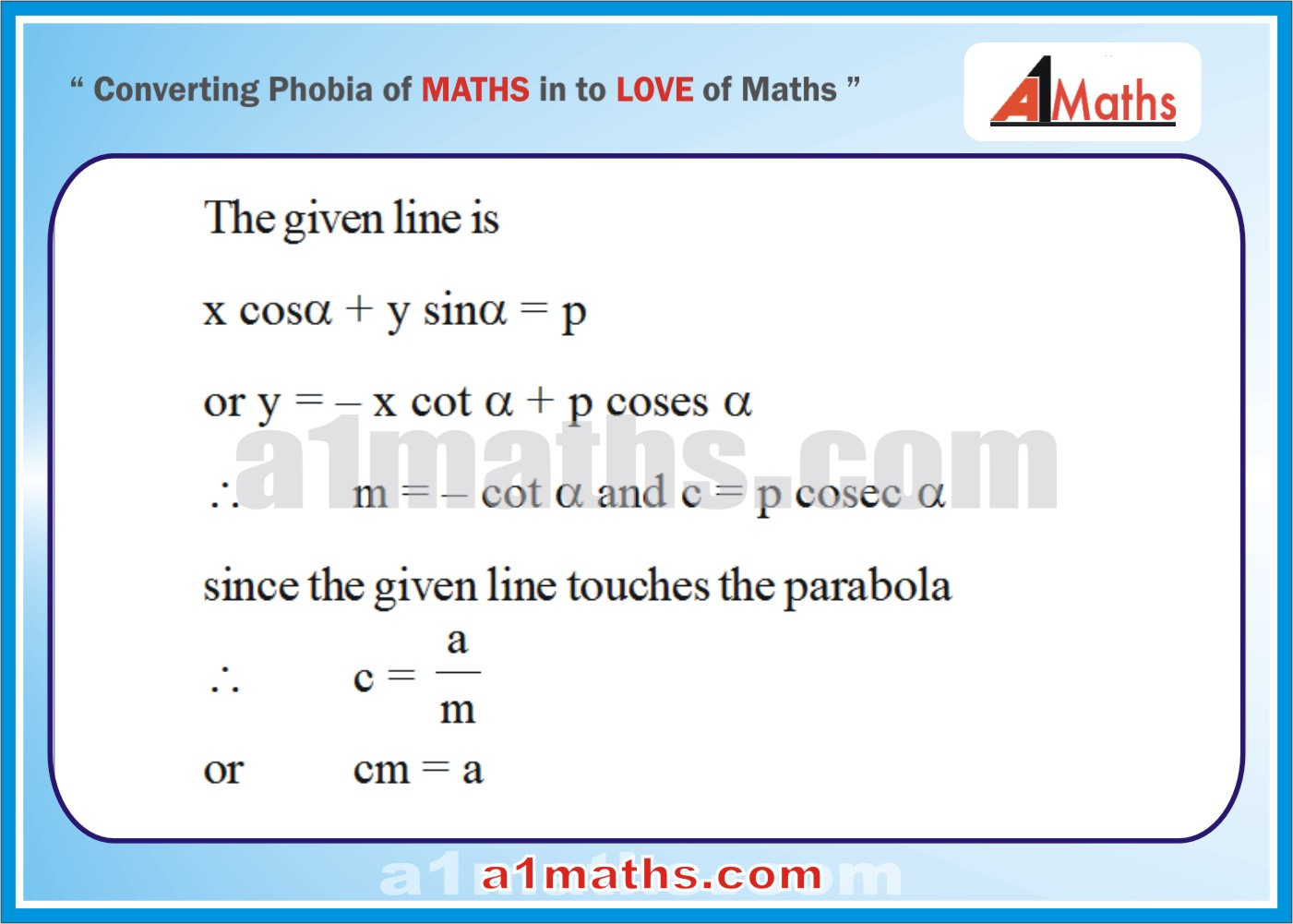 Solved Examples-1-1- Parabola-Coordinate Geometry-IIT-JEE Maths-Mains-Advanced-Free Study Material-