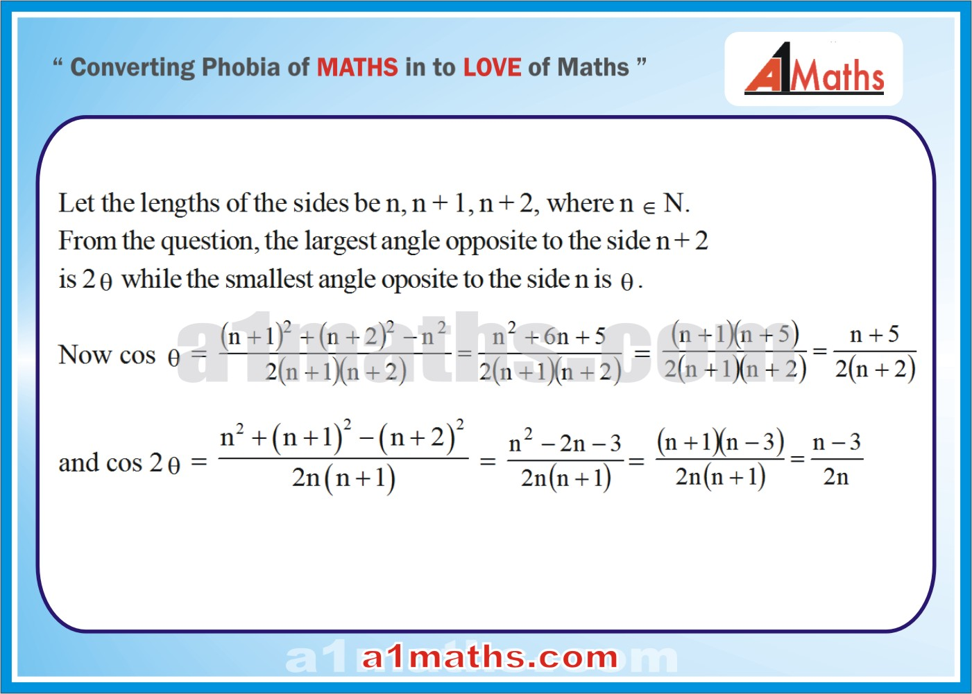Solved Examples-1-1- Trigonometry-Solution of Triangle-IIT-JEE Maths-Mains-Advanced-Free Study Material-