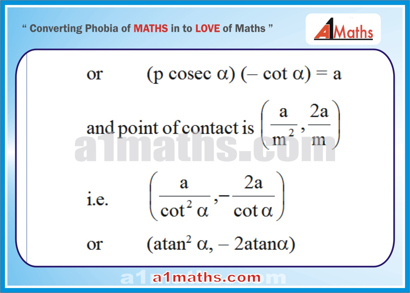 Solved Examples-1-2- Parabola-Coordinate Geometry-IIT-JEE Maths-Mains-Advanced-Free Study Material-