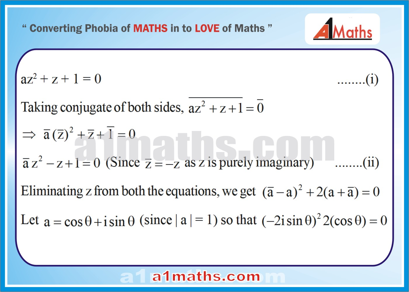 Solved Examples-2-1- Algebra-1-Complex Number-IIT-JEE Maths-Mains-Advanced-Free Study Material-