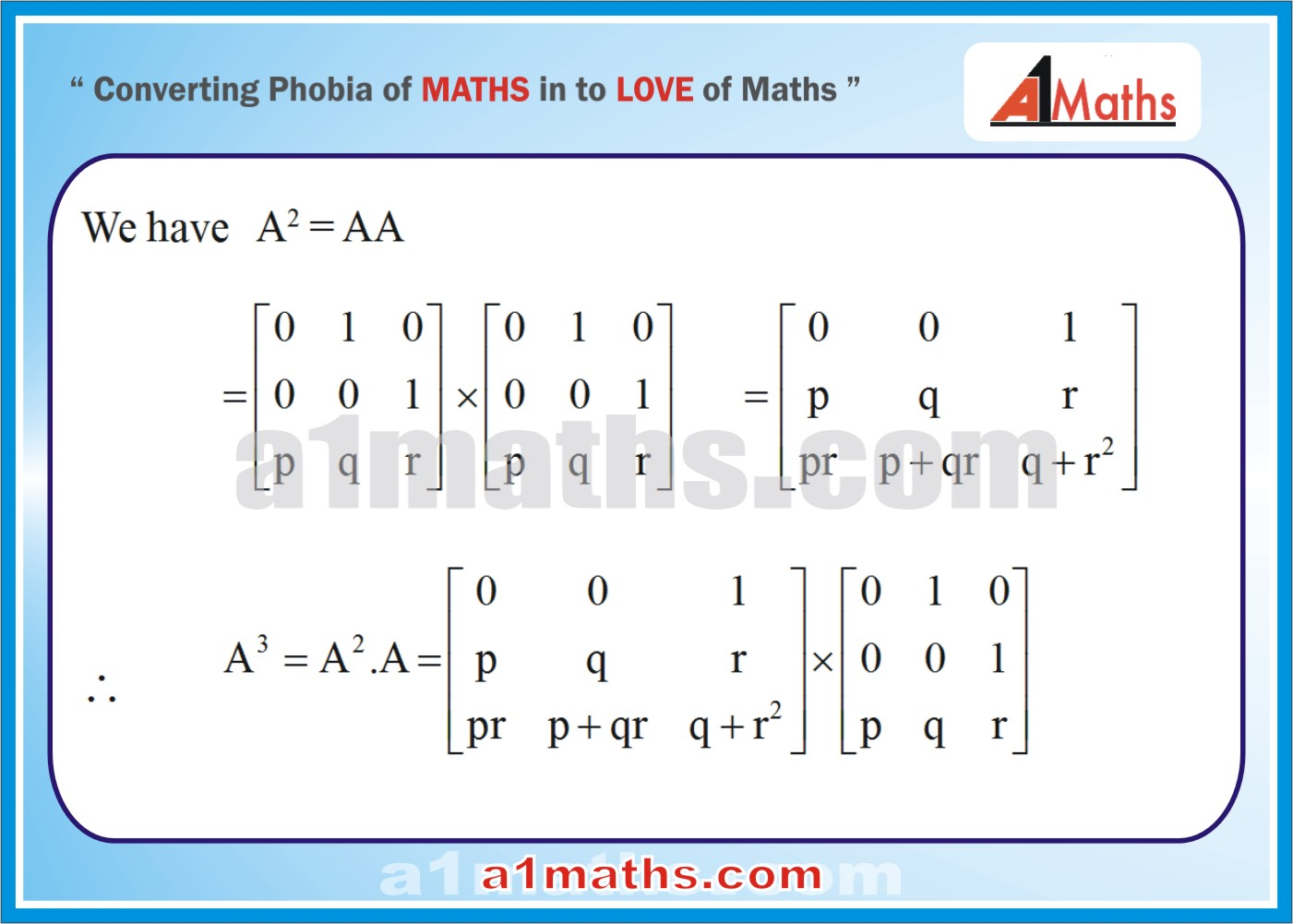 Solved Examples-2-1- Algebra-1-Matrices & Determinants-IIT-JEE Maths-Mains-Advanced-Free Study Material-