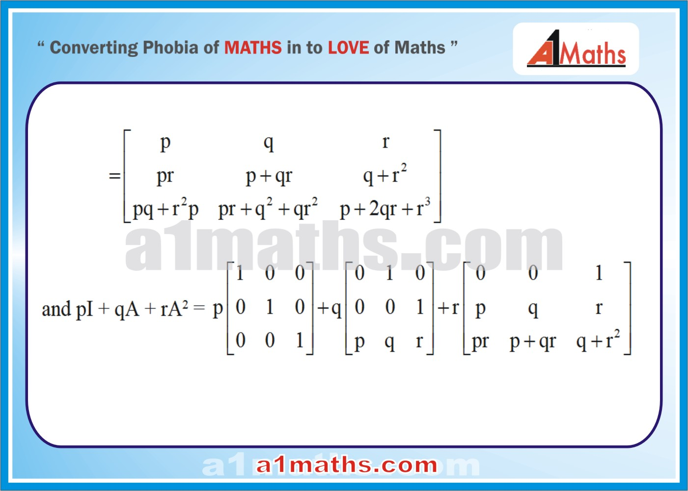 Solved Examples-2-2- Algebra-1-Matrices & Determinants-IIT-JEE Maths-Mains-Advanced-Free Study Material-