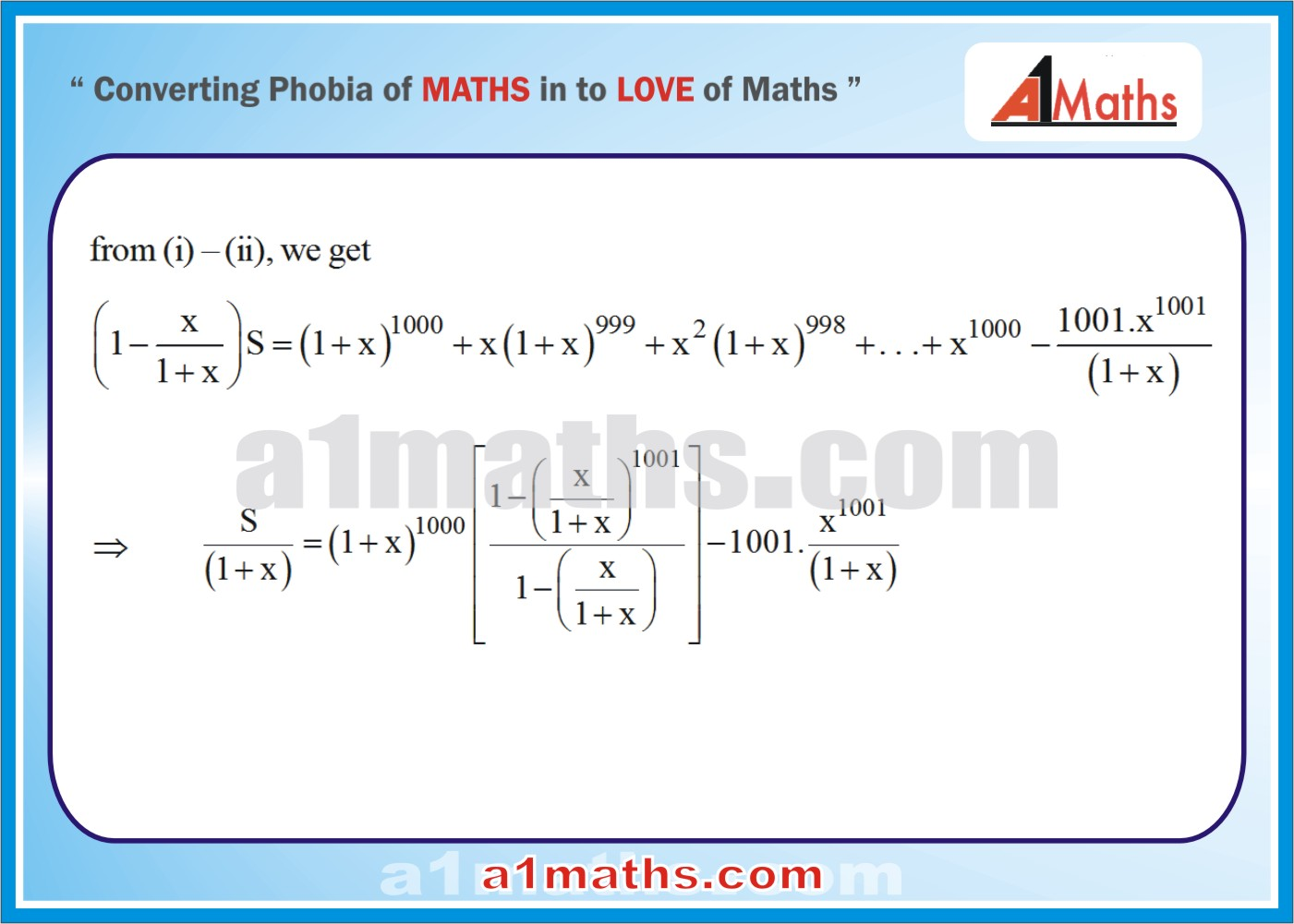 Solved Examples-2-2-Algebra-2-Binomial Theorem-IIT-JEE Maths-Mains-Advanced-Free Study Material