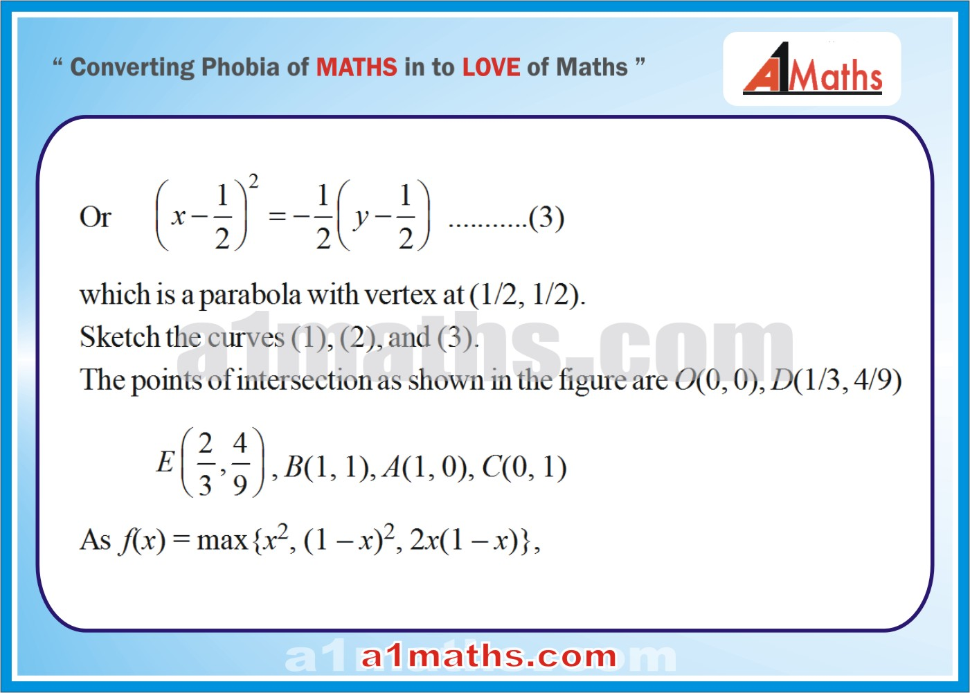 Solved Examplesarea Under Curve Integral Calculusiit Jee Maths Print How To  Find Area Area Of A