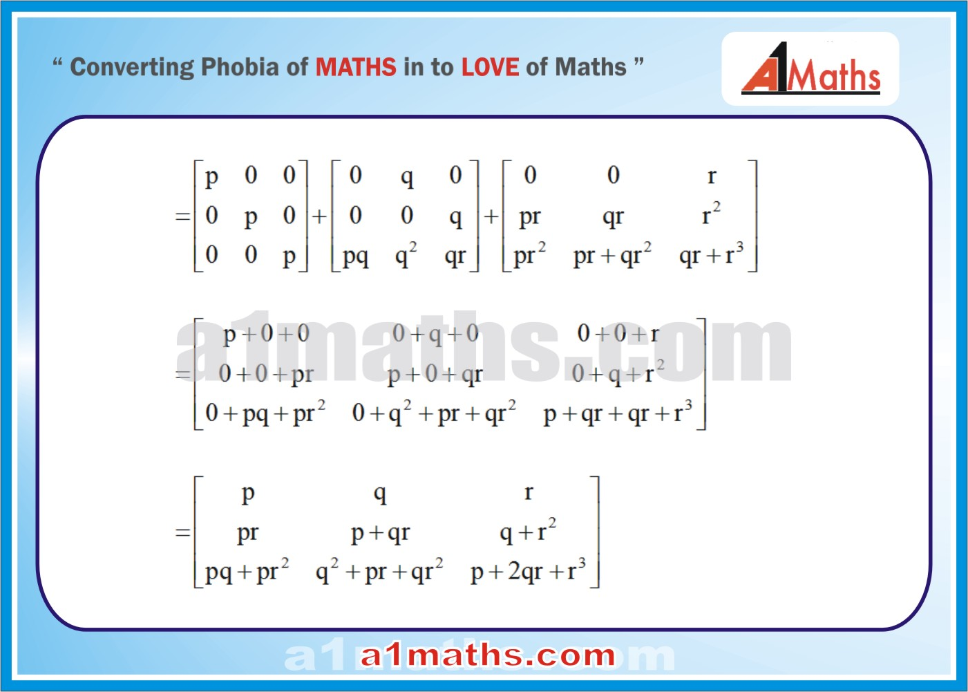 Solved Examples-2-3- Algebra-1-Matrices & Determinants-IIT-JEE Maths-Mains-Advanced-Free Study Material-