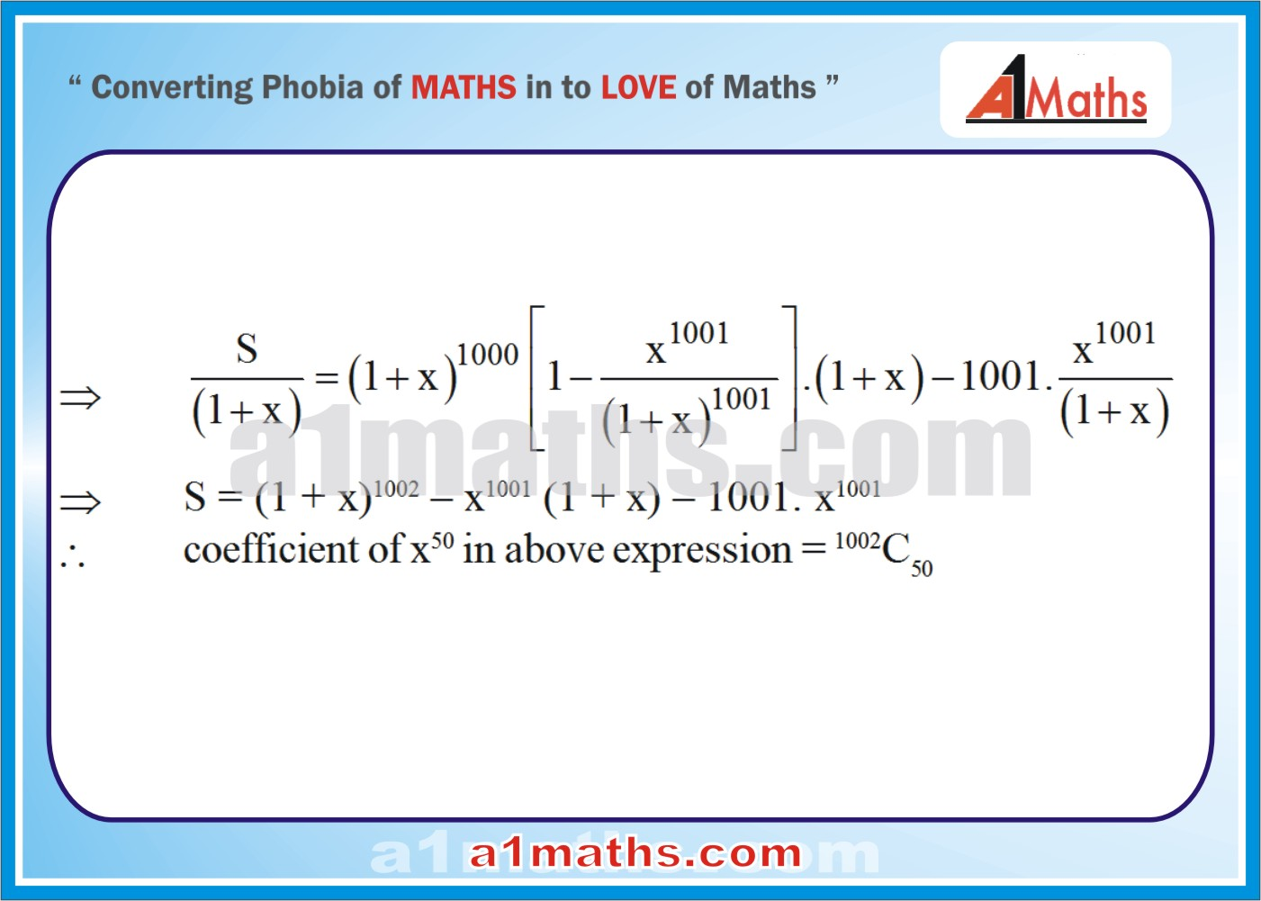 Solved Examples-2-3-Algebra-2-Binomial Theorem-IIT-JEE Maths-Mains-Advanced-Free Study Material