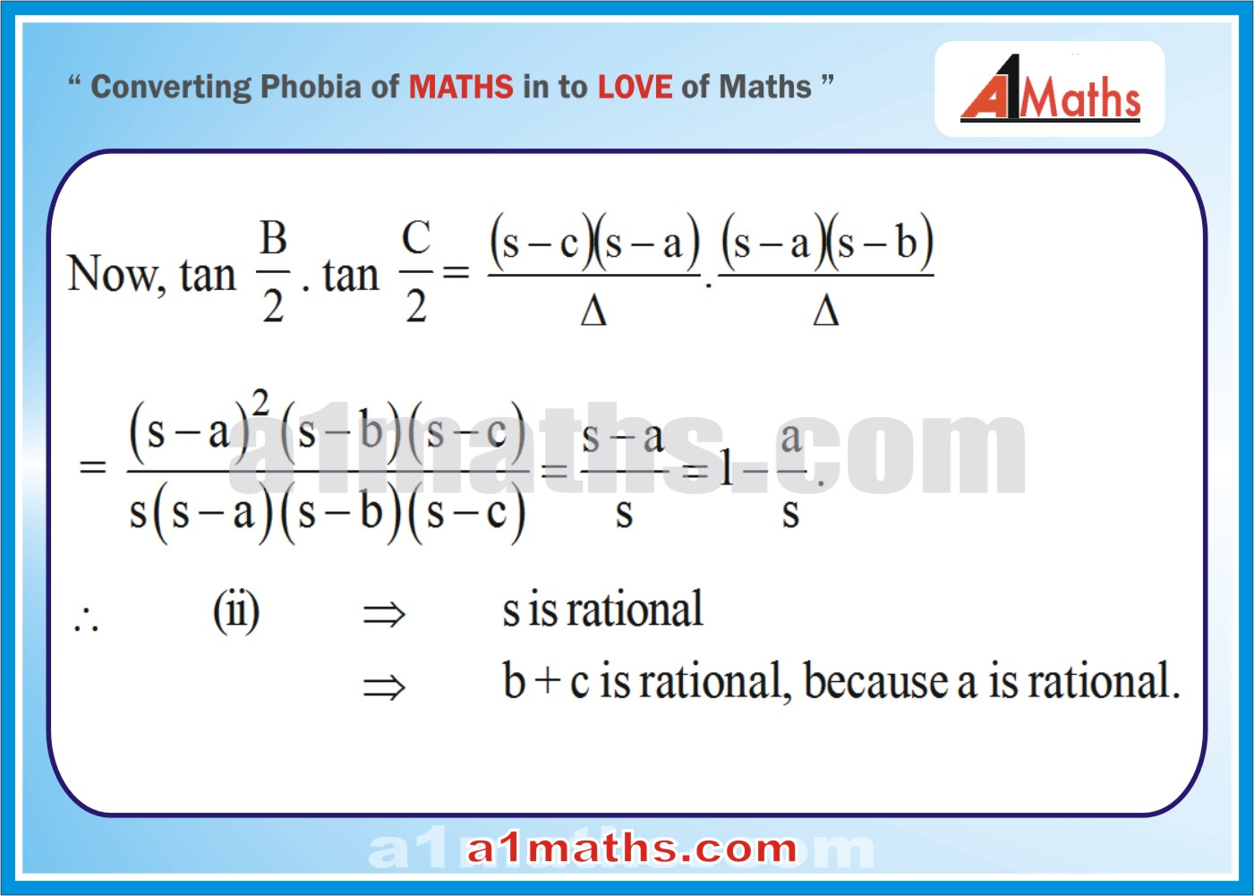 Solved Examples-2-3- Trigonometry-Solution of Triangle-IIT-JEE Maths-Mains-Advanced-Free Study Material-