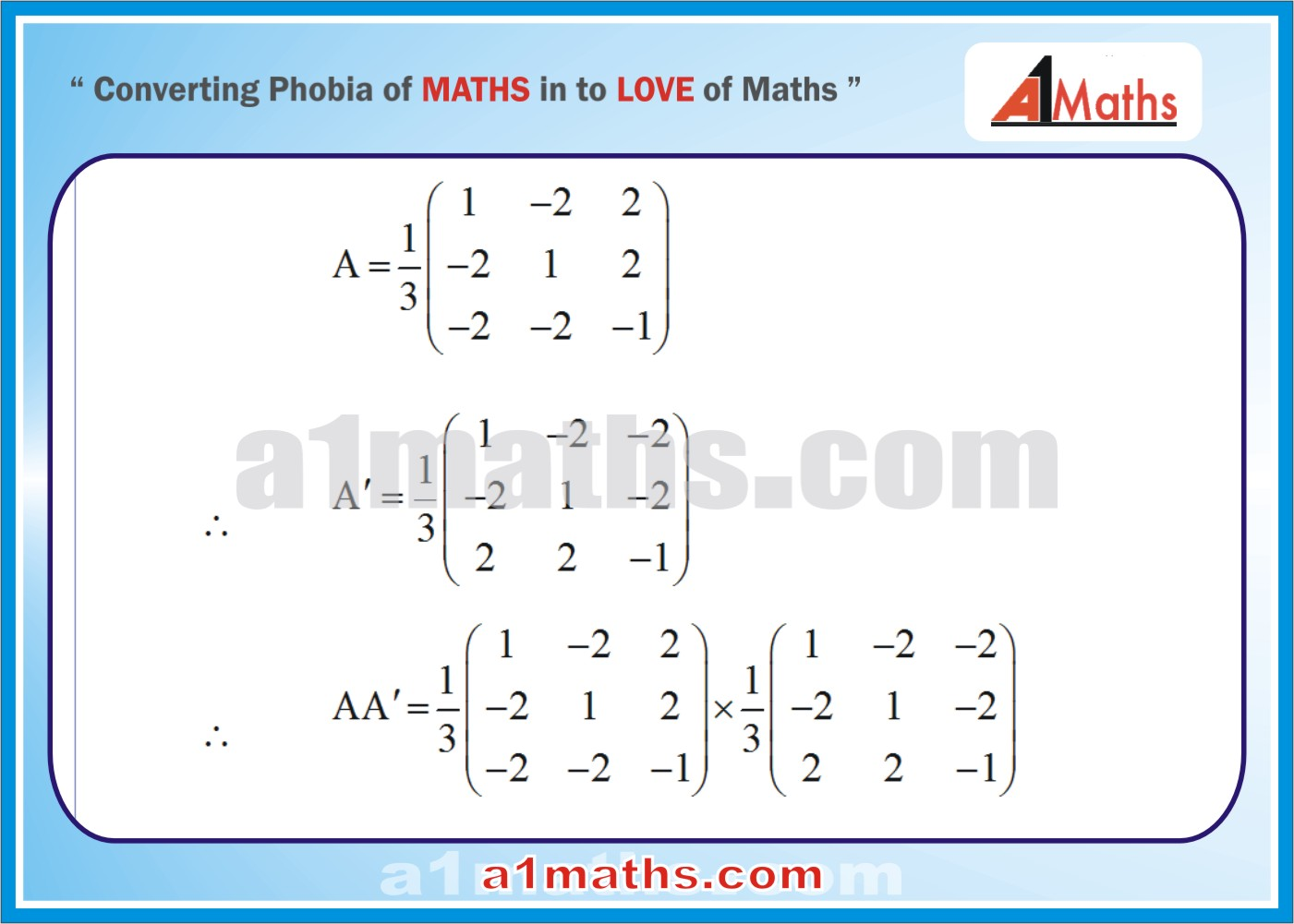 Solved Examples-3-1- Algebra-1-Matrices & Determinants-IIT-JEE Maths-Mains-Advanced-Free Study Material-