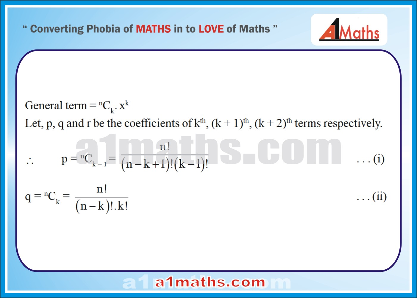 Solved Examples-3-1- Algebra-2-Binomial Theorem-IIT-JEE Maths-Mains-Advanced-Free Study Material