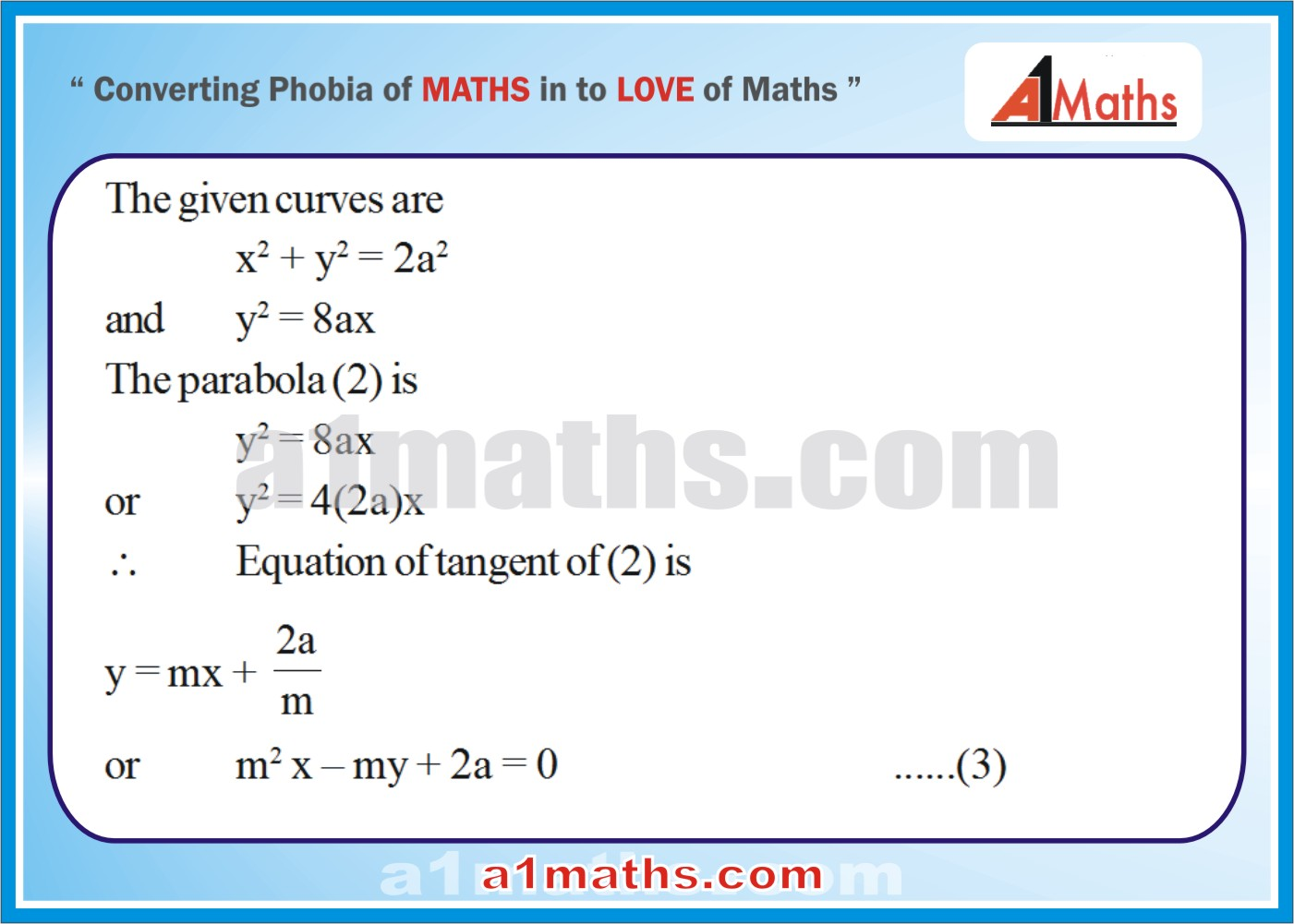 Solved Examples-3-1- Parabola-Coordinate Geometry-IIT-JEE Maths-Mains-Advanced-Free Study Material-