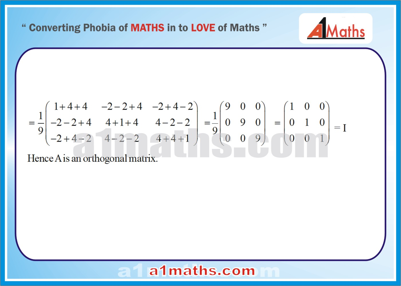 Solved Examples-3-2- Algebra-1-Matrices & Determinants-IIT-JEE Maths-Mains-Advanced-Free Study Material-