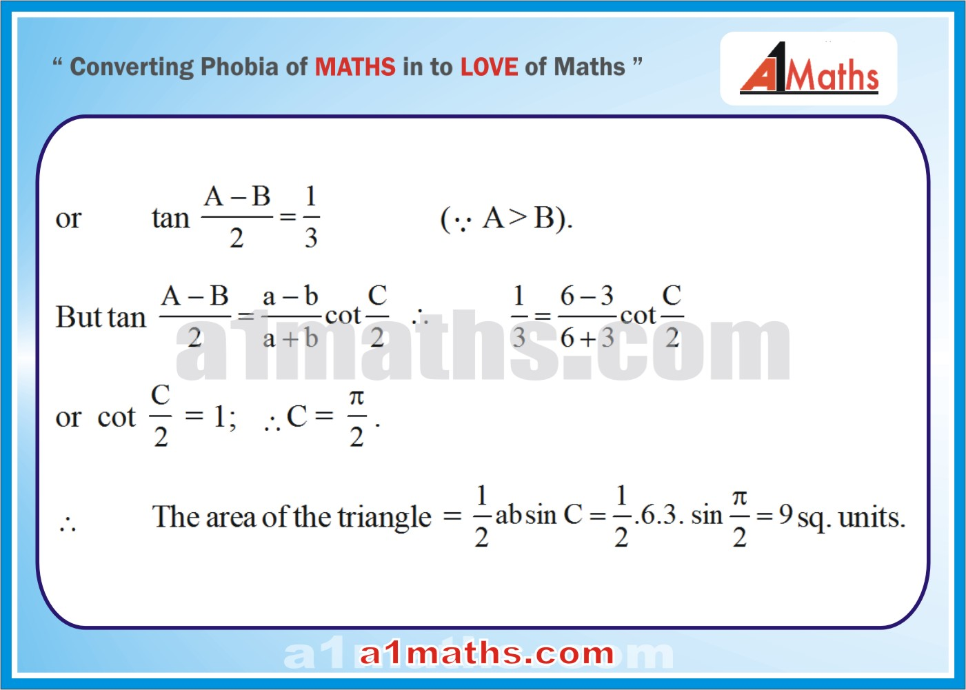 Solved Examples-3-2- Trigonometry-Solution of Triangle-IIT-JEE Maths-Mains-Advanced-Free Study Material-