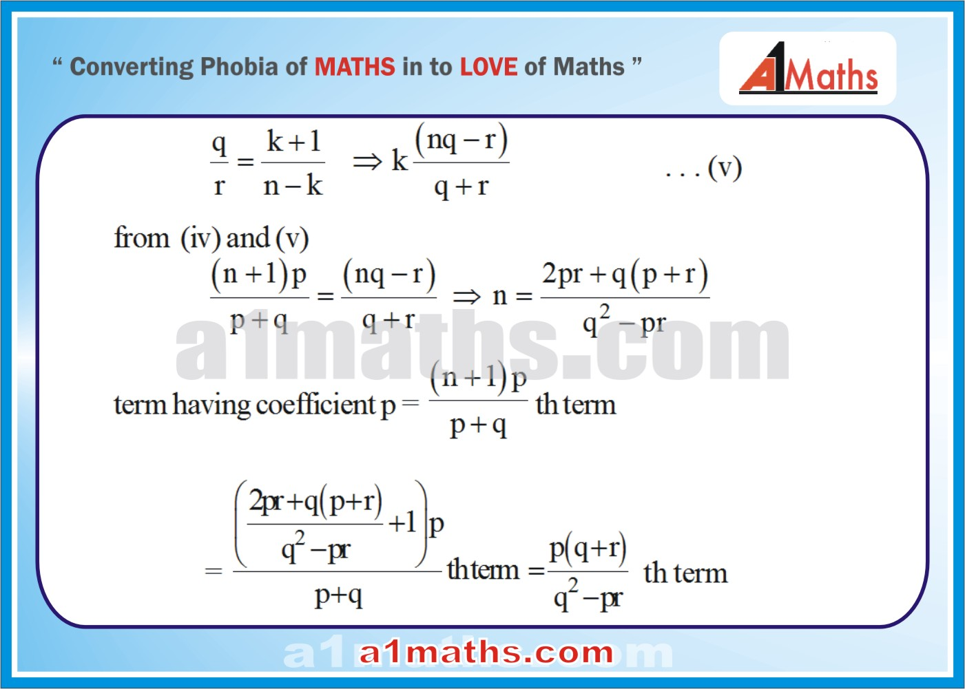 Solved Examples-3-3- Algebra-2-Binomial Theorem-IIT-JEE Maths-Mains-Advanced-Free Study Material