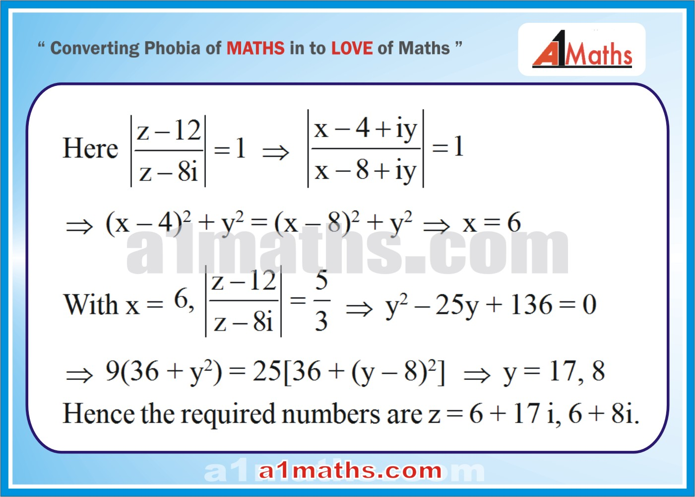 Solved Examples-4-1- Algebra-1-Complex Number-IIT-JEE Maths-Mains-Advanced-Free Study Material-