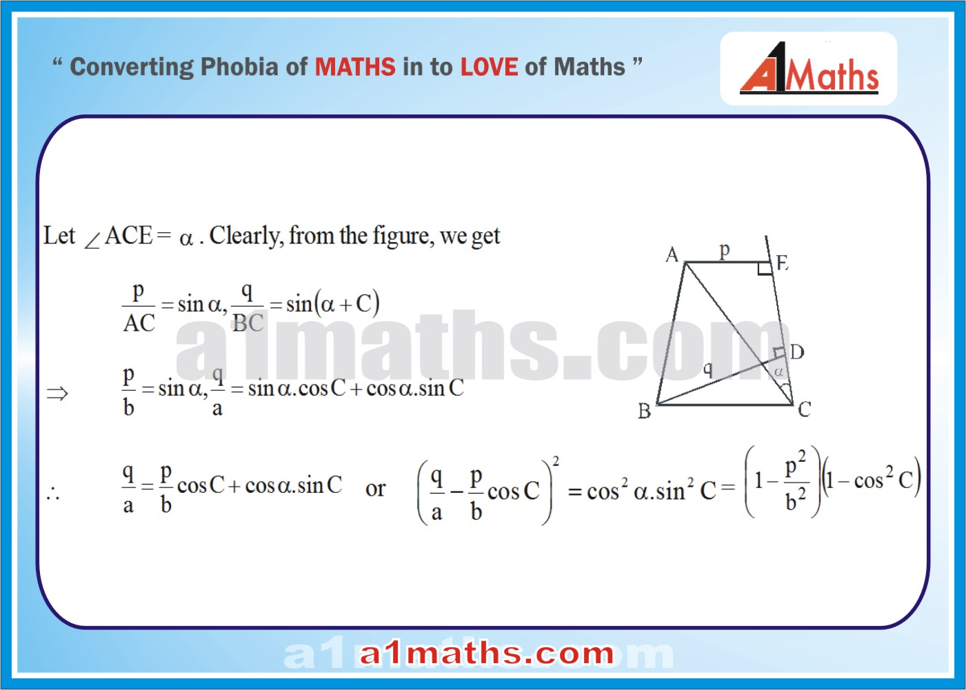 Solved Examples-4-1- Trigonometry-Solution of Triangle-IIT-JEE Maths-Mains-Advanced-Free Study Material-