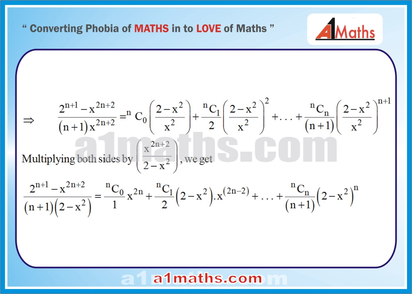 Solved Examples-4-3- Algebra-2-Binomial Theorem-IIT-JEE Maths-Mains-Advanced-Free Study Material