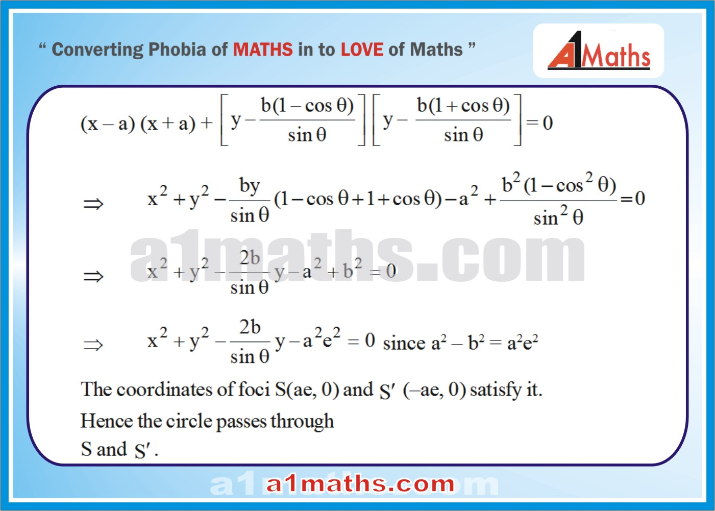 Solved Examples-4-3- Ellipse-Coordinate Geometry-IIT-JEE Maths-Mains-Advanced-Free Study Material-