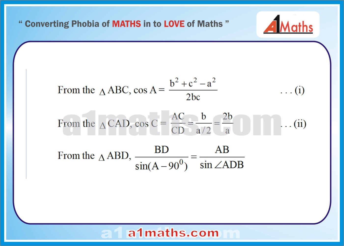 Solved Examples-4-3 Trigonometry-Solution of Triangle-IIT-JEE Maths-Mains-Advanced-Free Study Material-