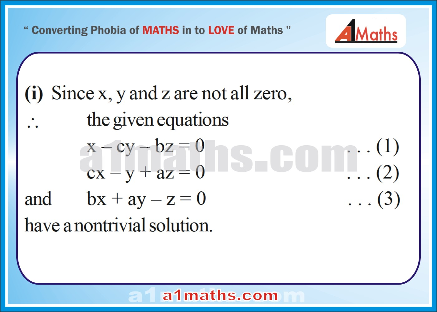 Solved Examples-5-1- Algebra-1-Matrices & Determinants-IIT-JEE Maths-Mains-Advanced-Free Study Material-