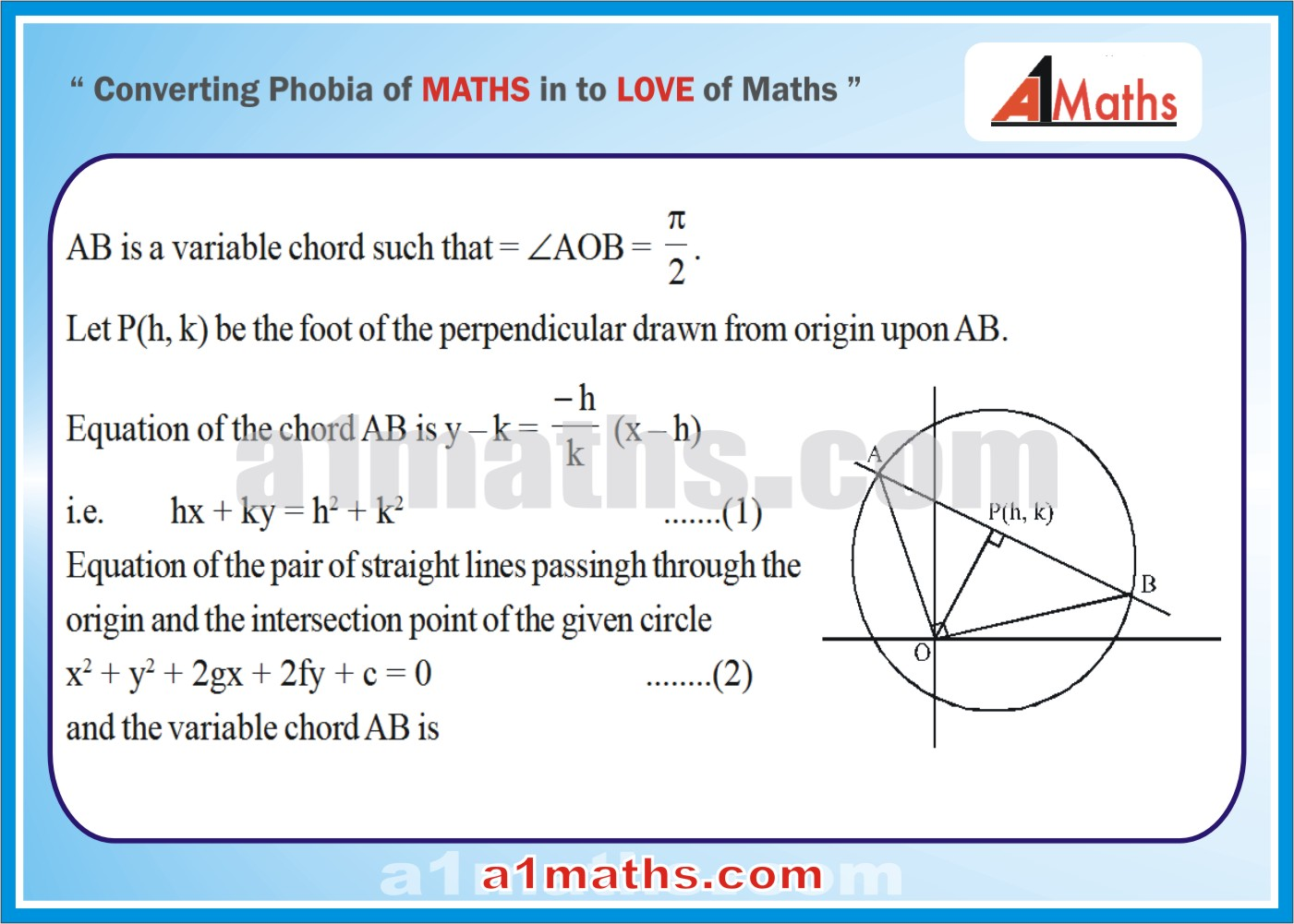 Solved Examples-5-1- Circle-Coordinate Geometry-IIT-JEE Maths-Mains-Advanced-Free Study Material-