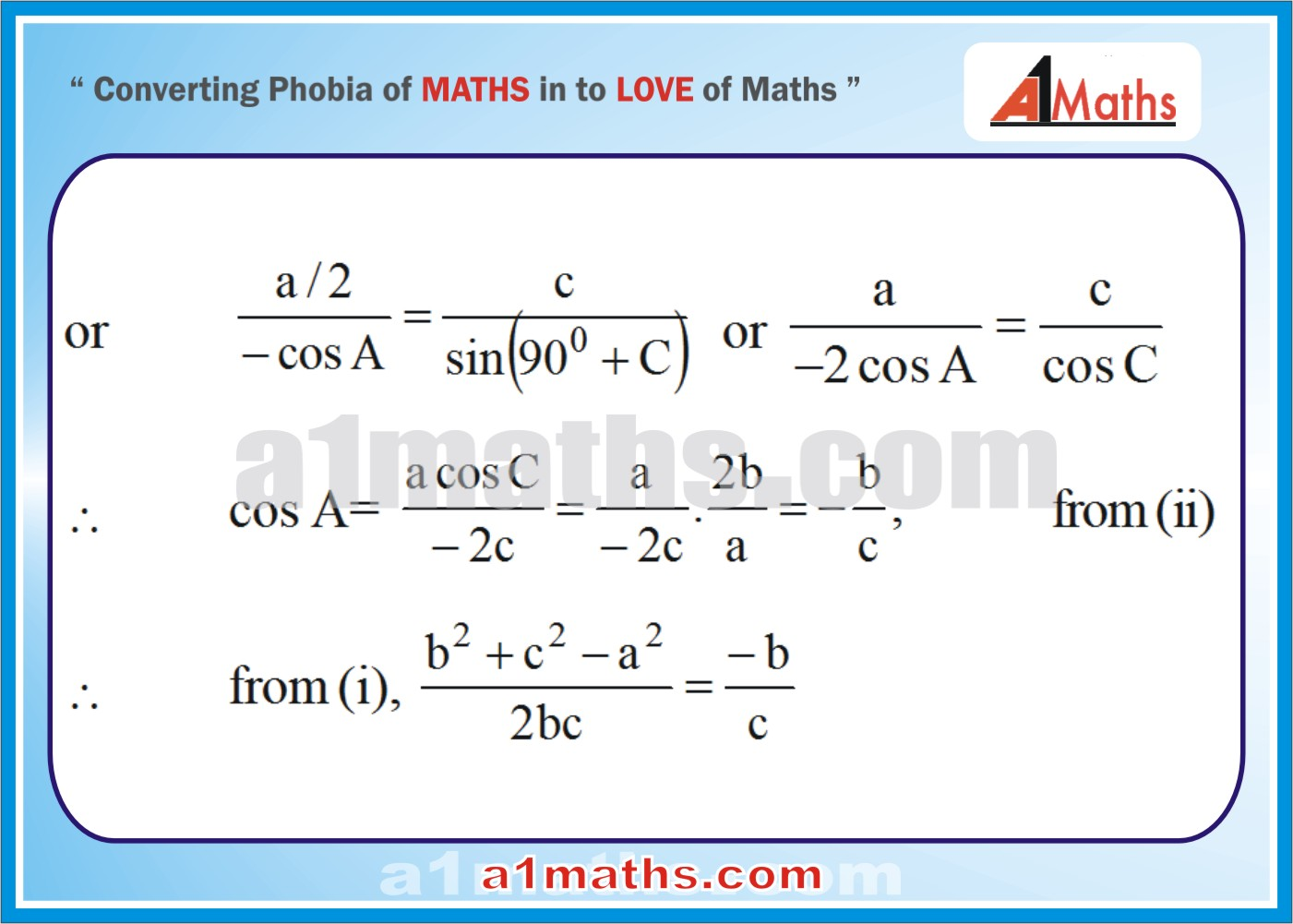 Solved Examples-5-1 Trigonometry-Solution of Triangle-IIT-JEE Maths-Mains-Advanced-Free Study Material-