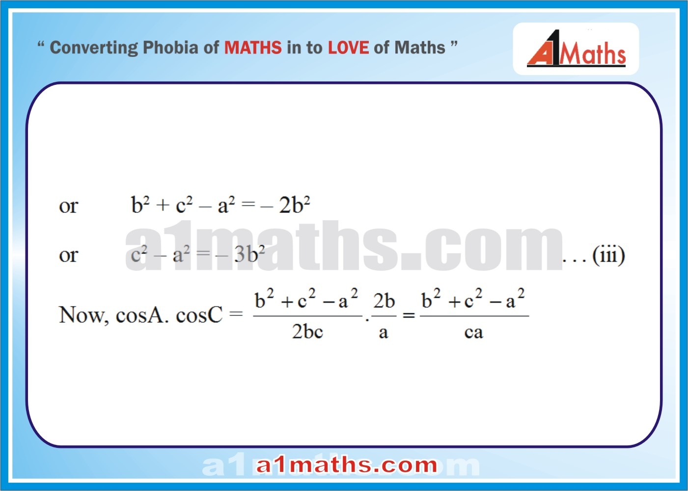 Solved Examples-5-2 Trigonometry-Solution of Triangle-IIT-JEE Maths-Mains-Advanced-Free Study Material-