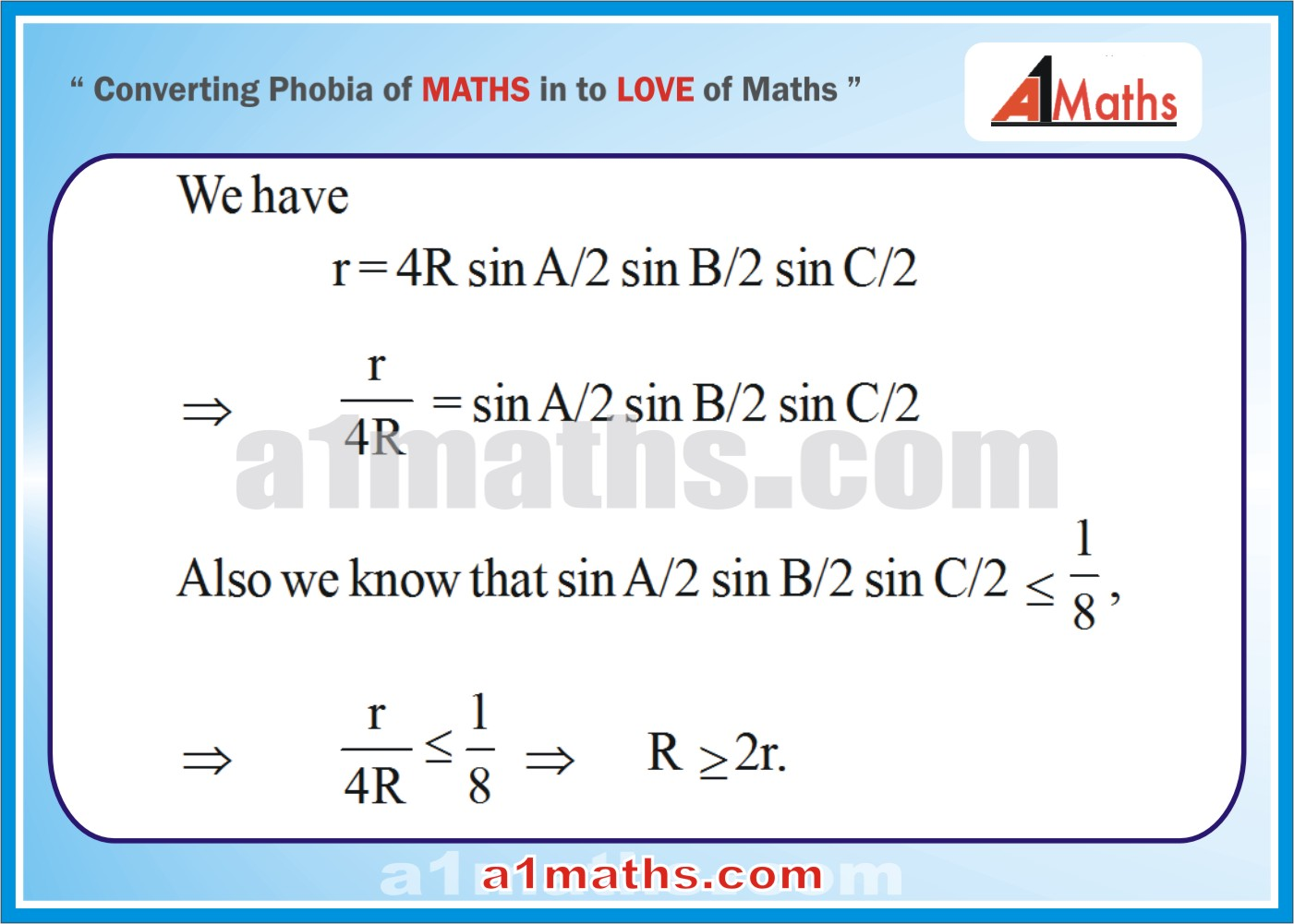 Solved Problems-10-1- Solution of Triangle-Trigonometry-IIT-JEE Maths-Mains-Advanced-Free Study Material-