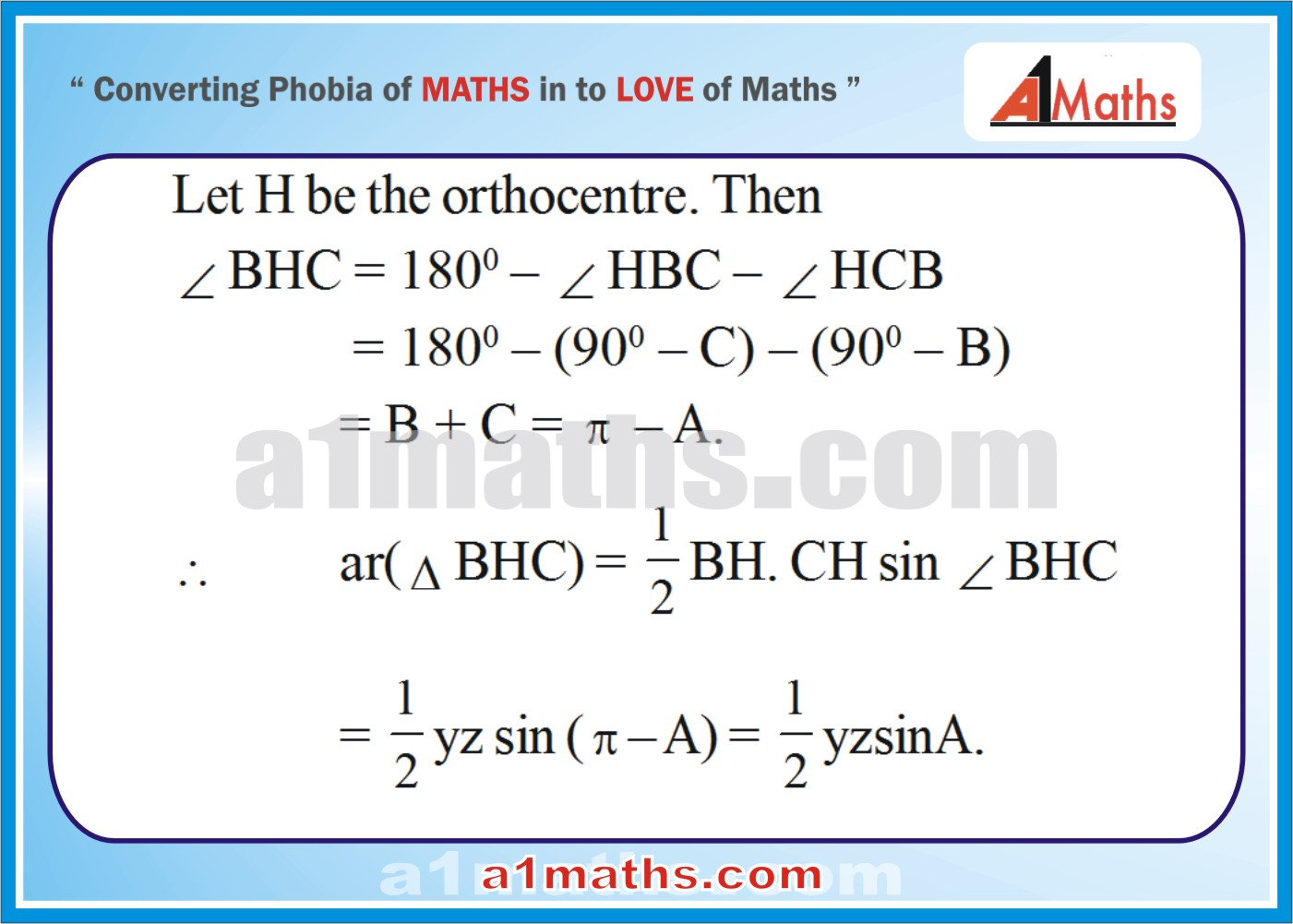 Solved Problems-9-1- Solution of Triangle-Trigonometry-IIT-JEE Maths-Mains-Advanced-Free Study Material-