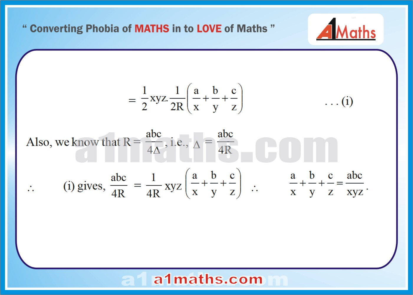 Solved Problems-9-3- Solution of Triangle-Trigonometry-IIT-JEE Maths-Mains-Advanced-Free Study Material-