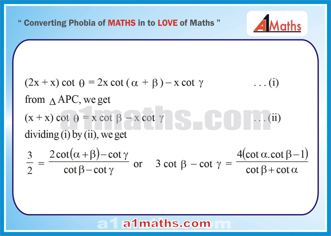 Solved Questions-7-2- Solution of Triangle-Trigonometry-IIT-JEE Maths-Mains-Advanced-Free Study Material-