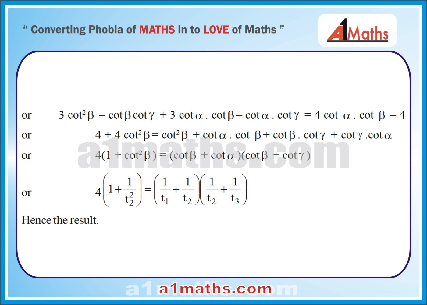 Solved Questions-7-3- Solution of Triangle-Trigonometry-IIT-JEE Maths-Mains-Advanced-Free Study Material-