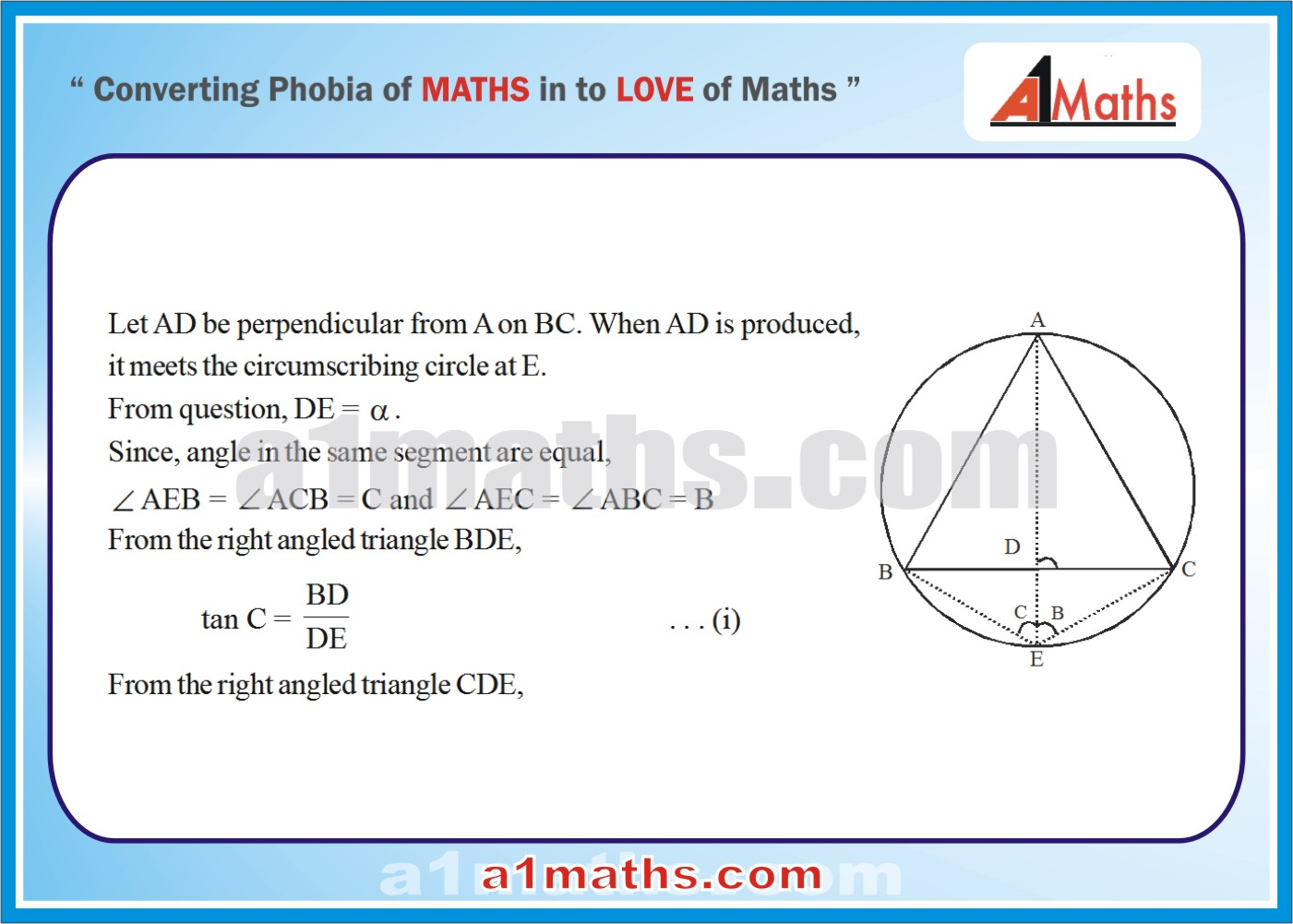 Solved Questions-8-1- Solution of Triangle-Trigonometry-IIT-JEE Maths-Mains-Advanced-Free Study Material-