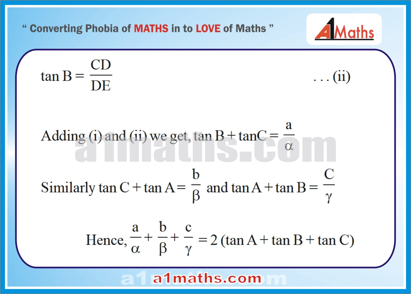 Solved Questions-8-2- Solution of Triangle-Trigonometry-IIT-JEE Maths-Mains-Advanced-Free Study Material-