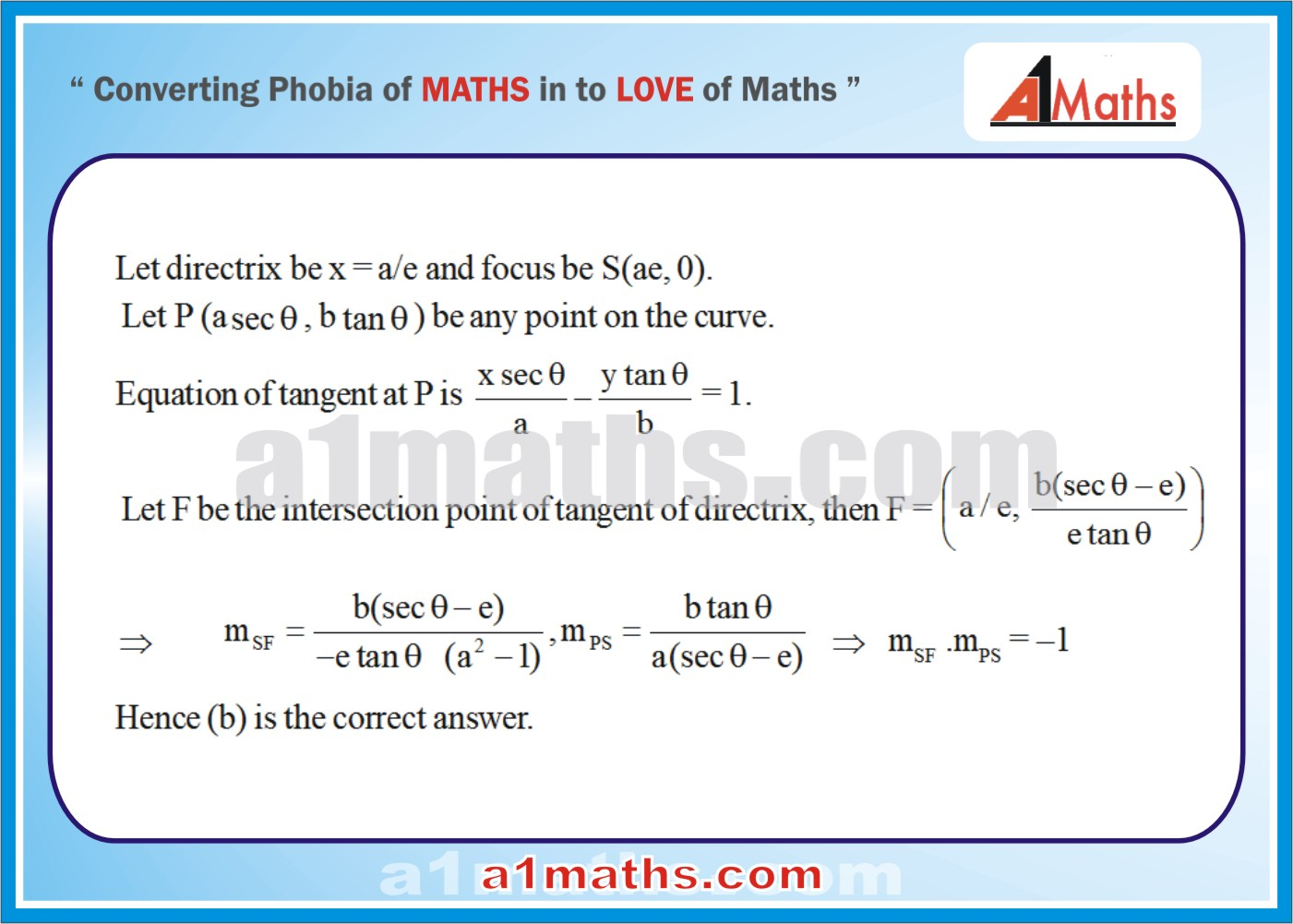 Objective -Solved Examples-3-1- Hyperbola-Coordinate Geometry-IIT-JEE